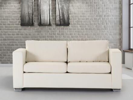 3-sits soffa beige - soffa - skinnsoffa - lädersoffa - HELSINKI
