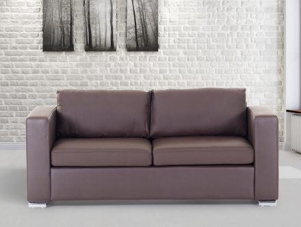 3-sits soffa brun - soffa - skinnsoffa - lädersoffa - HELSINKI