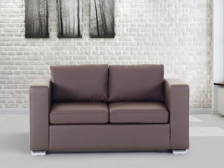 2-sits soffa brun - soffa - skinnsoffa - lädersoffa - HELSINKI
