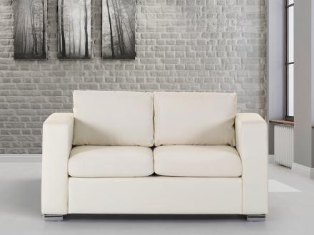 2-sits soffa beige - soffa - skinnsoffa - lädersoffa - HELSINKI