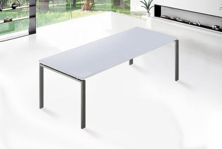Matbord vit - bord med stativ i rostfritt stål - köksbord - matsalsbord - 220 cm - ARCTIC II