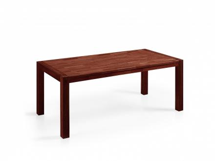 Matbord brun - massiv ek - träbord - köksbord - matsalsbord - 150 cm - NATURA
