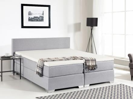 Kontinentalsäng ljusgrå - stoppad säng - dubbelsäng - säng 160x200 cm - PRESIDENT