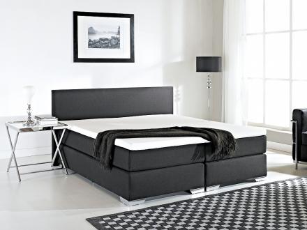 Kontinentalsäng svart - stoppad säng - dubbelsäng - säng 160x200 cm - PRESIDENT