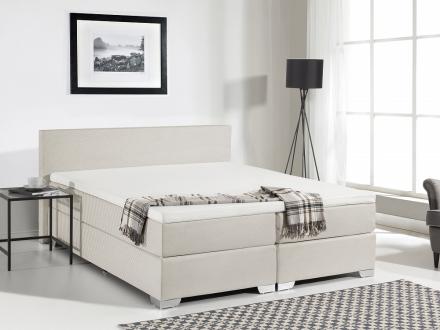 Kontinentalsäng beige - stoppad säng - dubbelsäng - säng 160x200 cm - PRESIDENT