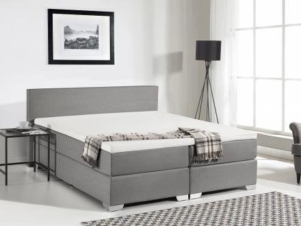 Kontinentalsäng grå - stoppad säng - dubbelsäng - säng 160x200 cm - PRESIDENT