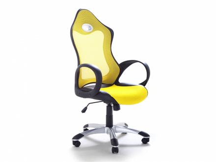 Arbetsstol med armstöd gul - kontorsstol - iChair
