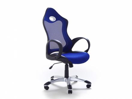 Arbetsstol med armstöd blå - kontorsstol - iChair