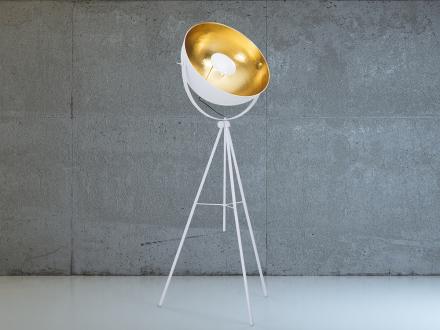 Modern golvlampa vit - stående lampa - belysning - THAMES