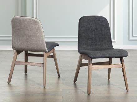 Stol mörkgrå - stoppad stol - matsalsstol - MADOX
