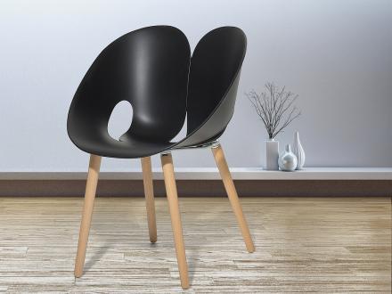 Stol svart - matsalsstol - vardagsrumsstol - trädgårdsstol - MEMPHIS