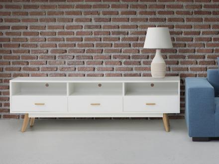 TV-bänk vit - skåp - sidobord - skänk - LIBERTY