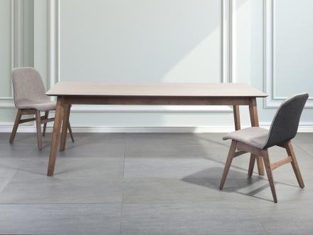 Matbord brun - köksbord - matsalsbord - 200x100 cm - MADOX