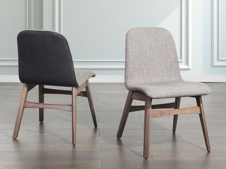 Stol ljusgrå - stoppad stol - matsalsstol - MADOX