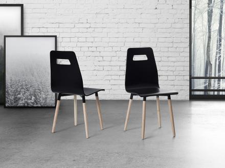 Stol svart - matsalsstol - köksstol - vardagsrumsstol - BOVIO