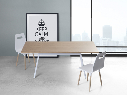 Matbord vit - köksbord - 180 cm - matsalsbord - FLOW