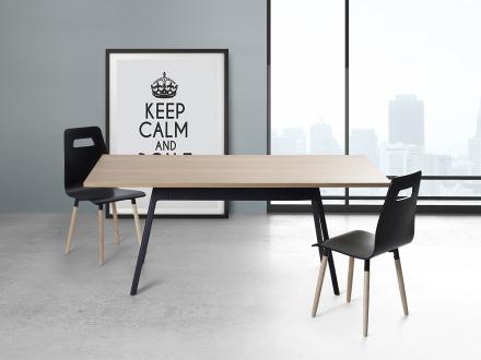 Matbord svart - köksbord - 180 cm - matsalsbord - FLOW