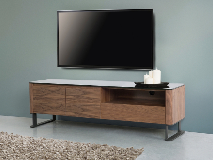 TV-bänk brun - skåp - sidobord - skänk - mediaenhet - ELVAS