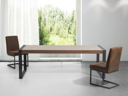 Matbord brun - köksbord - 220 cm - matsalsbord - POLAR