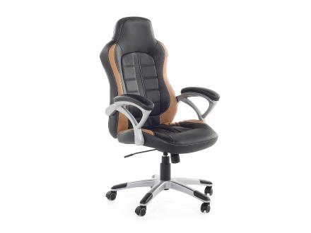 Kontorsstol svart och ljusbrun - fåtölj - gamingstol - PRINCE