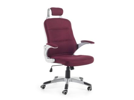 Kontorsstol burgundy röd - fåtölj - arbetsstol - mesh - PREMIER