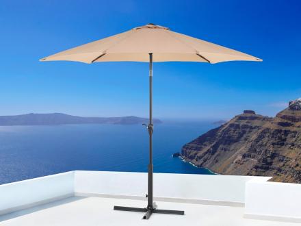 Parasoll mocca - ø 267 cm - trädgårdsparasoll - UV resistent solskydd av metall - VARESE