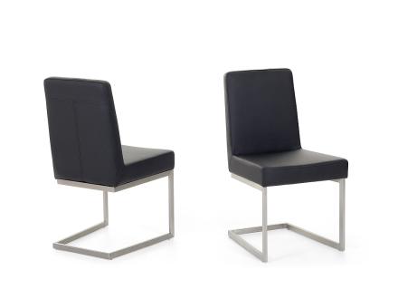 Matsalsstol svart - stol med stativ i rostfritt stål - ARCTIC