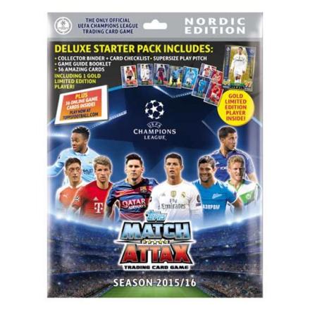 Fotbollsbilder Fotbollskort - Deluxe Startpaket Nordic Edition Topps MA - Champions League 2015-16
