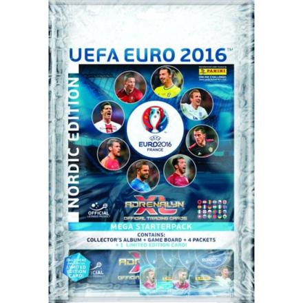 Fotbollsbilder Fotbollskort - 1st Mega Startpaket Nordic Edition Panini Adrenalyn XL Euro 2016