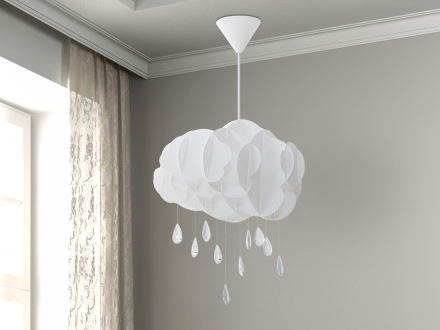 Modern molnliknande taklampa vit - hängande lampa - belysning - AILENNE