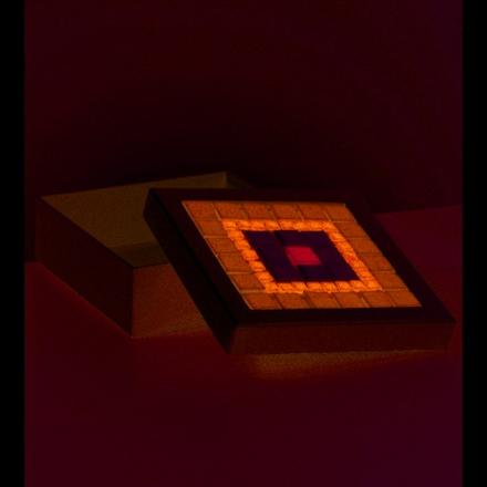 Ask mosaik 17 x 17 x 6 cm - vit kvadra