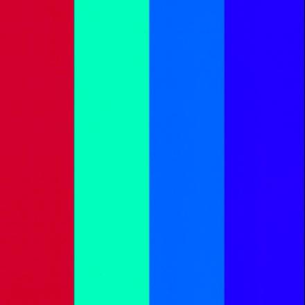 Color-Dekor färgfolie 180 °C 100 x 200 mm - 4 blandade färger 4 st sortiment 4