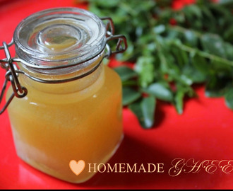 how to make ghee from butter at home in tamil