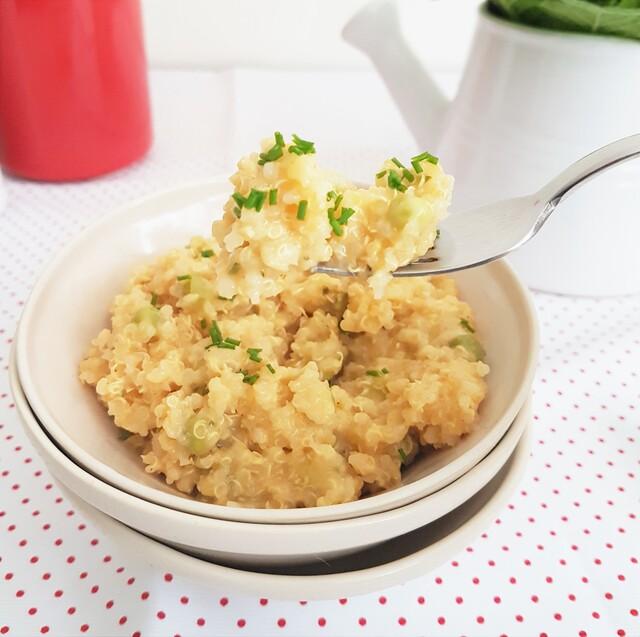 Quinoa con queso, ejotes y chícharos - Receta original de myTaste