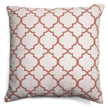 Classic Collection Prydnadskudde Trellis, Dusty Pink