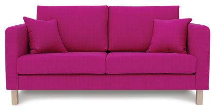 Iris 2-Sits Soffa Pink