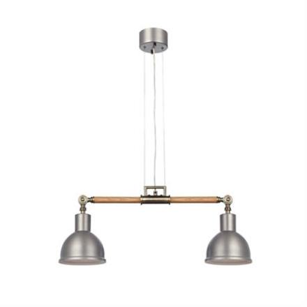 LampGustaf Taklampa Archimedes Pendel Ek/Aluminium 2-L