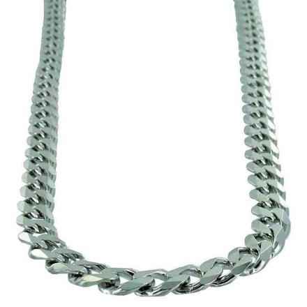 Halsband Sterling silver Pansarlänk 9 mm
