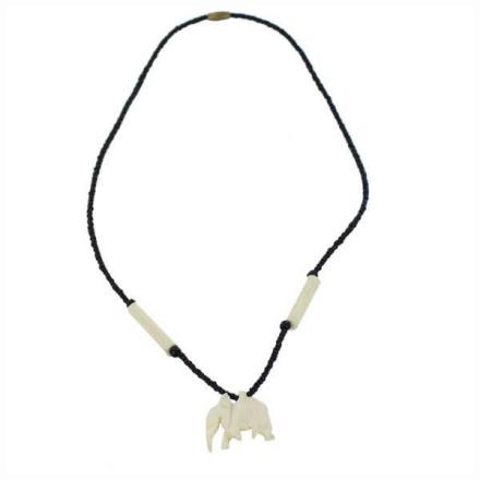 Halsband Afrikanska Masai benvit elefant