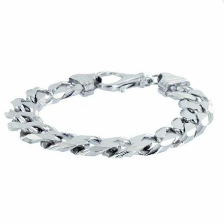 Armband Sterling silver Pansarlänk 15mm