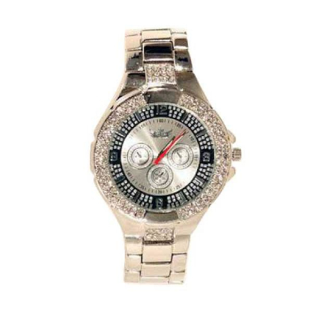 Klocka Bling All Chronograph Silverface Platinum Watch   Klockor