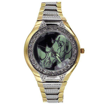 Klocka Ecko Black Face Stylish Two Tone Diamond Watch