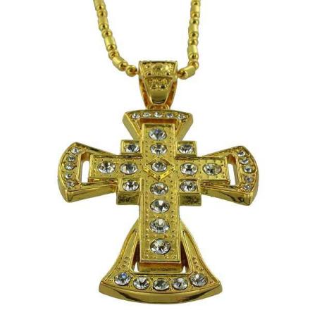 Hängsmycke Guld Armenian CZ Diamond cross
