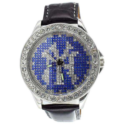 Klocka NY New York MicroPave Leather band Mens Watch