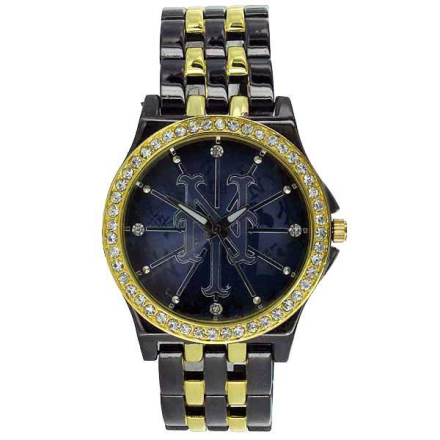 Klocka Gold n Black Blueface NY New York Sports Watch