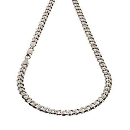 Halsband Sterling silver Pansarlänk 7 mm