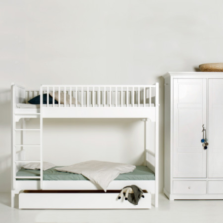 Oliver Furniture Seaside Våningssäng 90x200 med rak stege