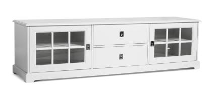 Mavis Tv-Bänk Smögen 180cm, 2 dörrar Vitlack