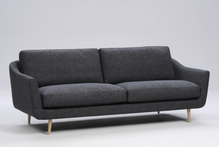 Interface Duna 3-sits soffa Mörkgrå