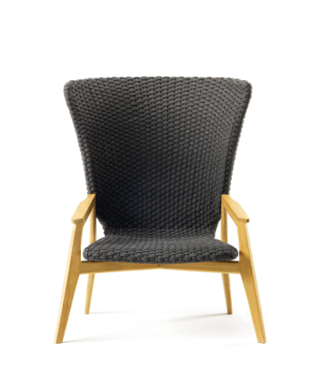 Ethimo Knit High Back Fåtölj - Teak